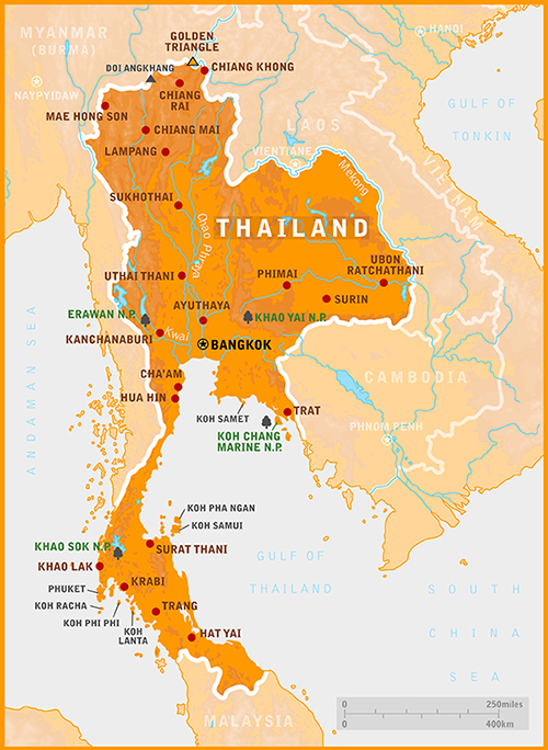 Travel to Thailand Map of Thailand – Thailand Tourist Attractions Map